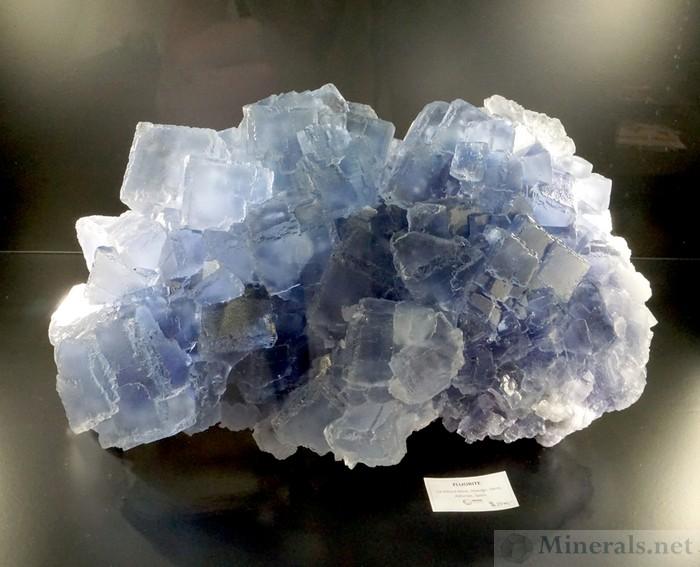 Gobi Desert Inner Mongolia Blue Fluorite Crystal
