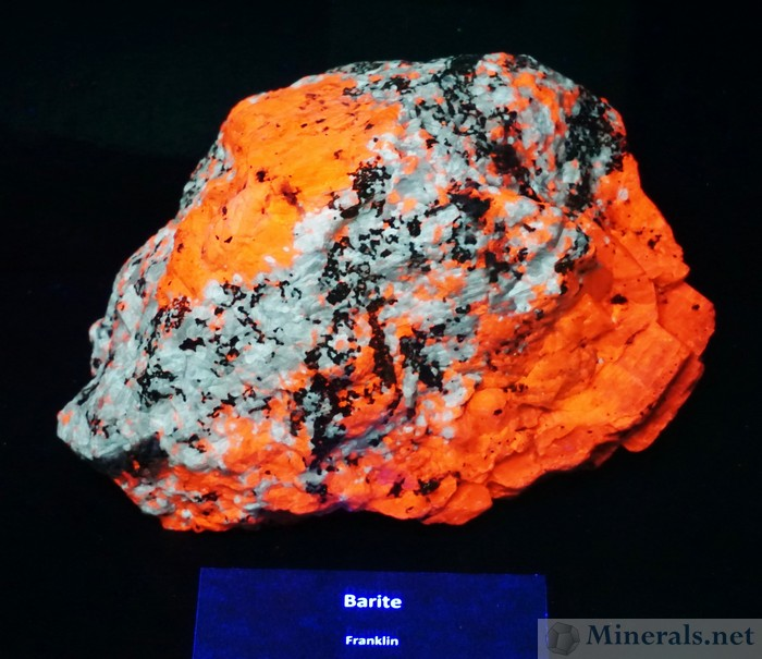 Rare Fluorescent Barite from Franklin, New Jersey