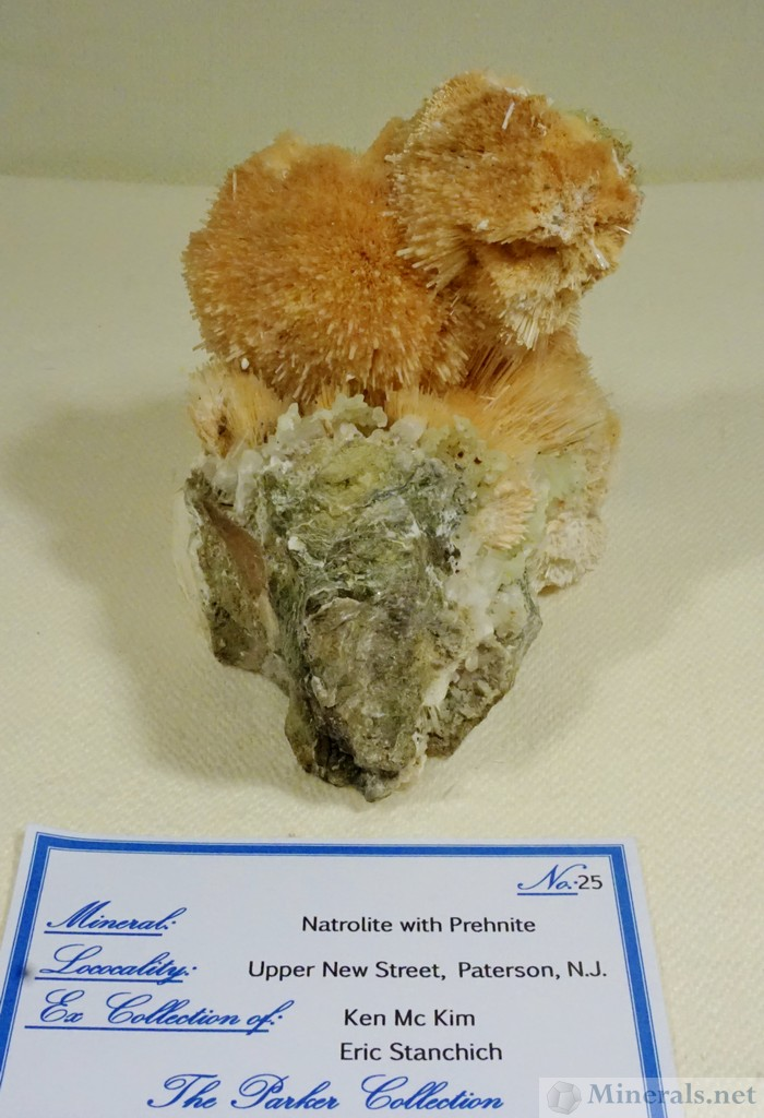Orange Natrolite, Upper New Street Quarry, Paterson, NJ Stan Parker