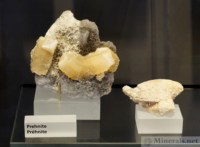 ROM Mineral Hall Prehnite Jeffrey Quarry, Asbestos