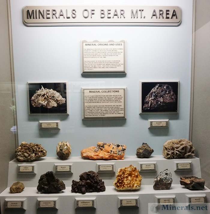 Mineral Exhibit of Minerals of the Bear Mountain Area