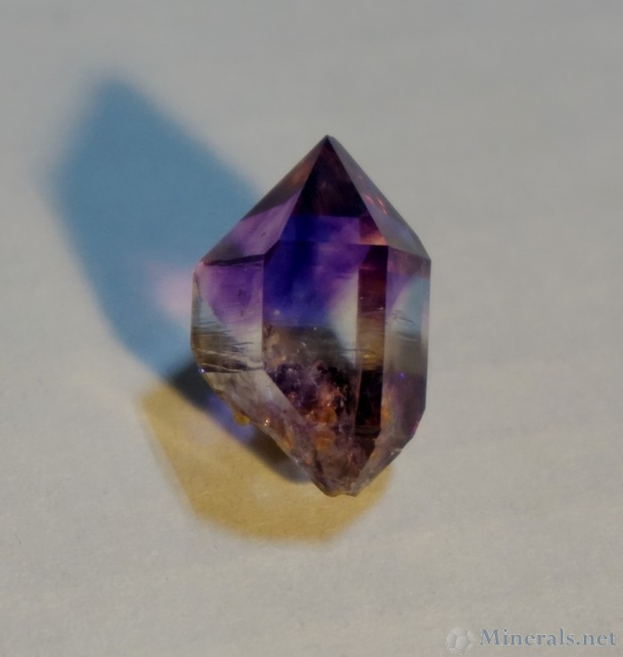 Doubly terminated Amethyst Crystal with Great Color Zoning