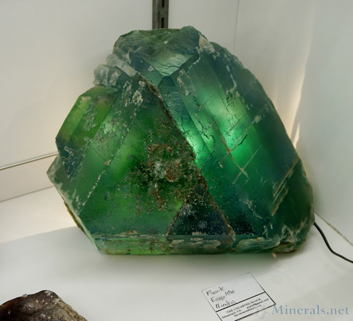 An Enormous Green Fluorite from the Erongo Mountains, Namibia