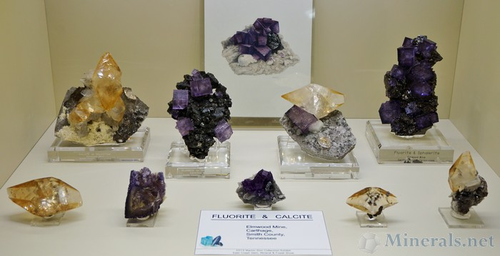 Fluorite & Calcite from the Elmwood Mine, Carthage, Tennessee