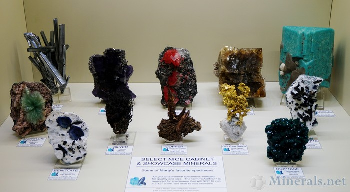 Marty Zinn's Select Cabinet & Showcase Minerals