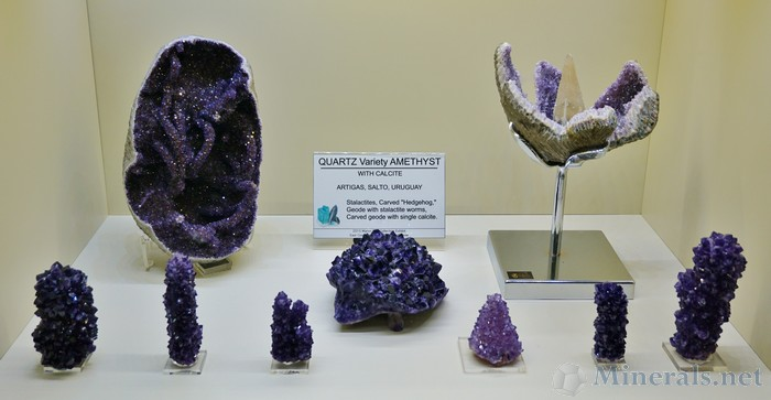 Quartz var. Amethyst from Artigas, Uruguay