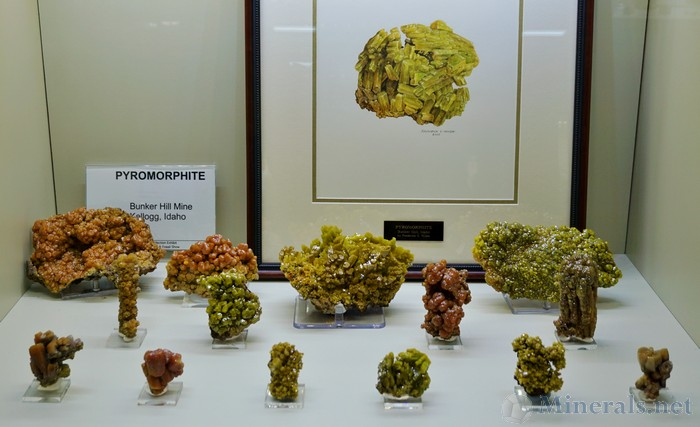 Pyromorphite from the Bunker Hill Mine, Kellogg, Idaho