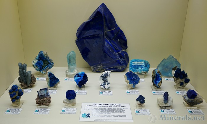 Blue Minerals: Multiple Species from Multiple Locales
