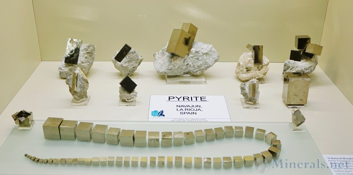 Pyrite Cubes and Rectangles from Navajun, La Rioja, Spain