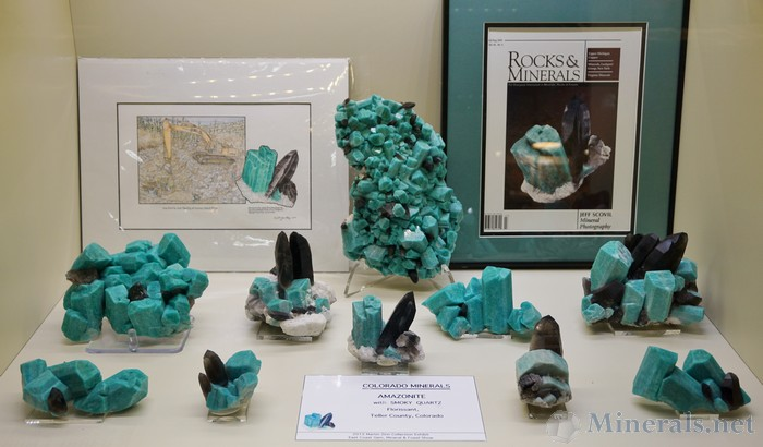 Amazonite & Smoky Quartz from Folrissant, Teller Co, Colorado