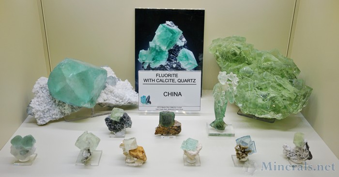 Fluorite with Calcite & Quartz from China