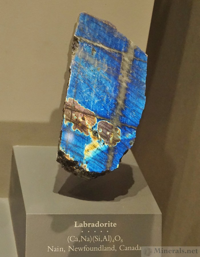 Labradorite Showing Amazing Color Sheen from Nain, Nefoundland, Canada