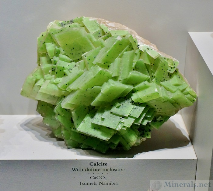 Calcite with Duftite Inclusions, Resulting in Green Color, From Tsumeb, Namibia