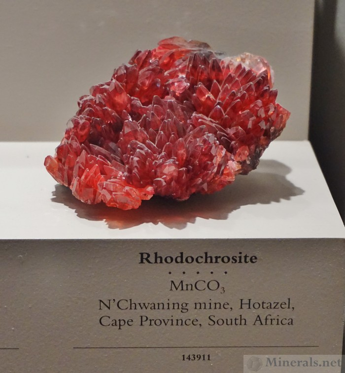 Deep Red Rhodochrosite from N'Chwaning Mine, Hotazel, South Africa