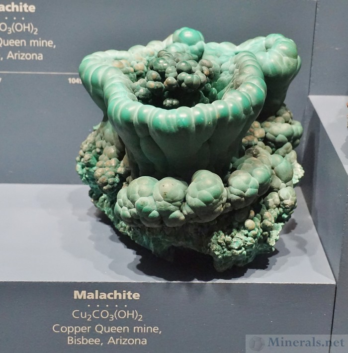 Nest-Shaped Malachite Formation from the Copper Queen Mine, Bisbee, Arizona
