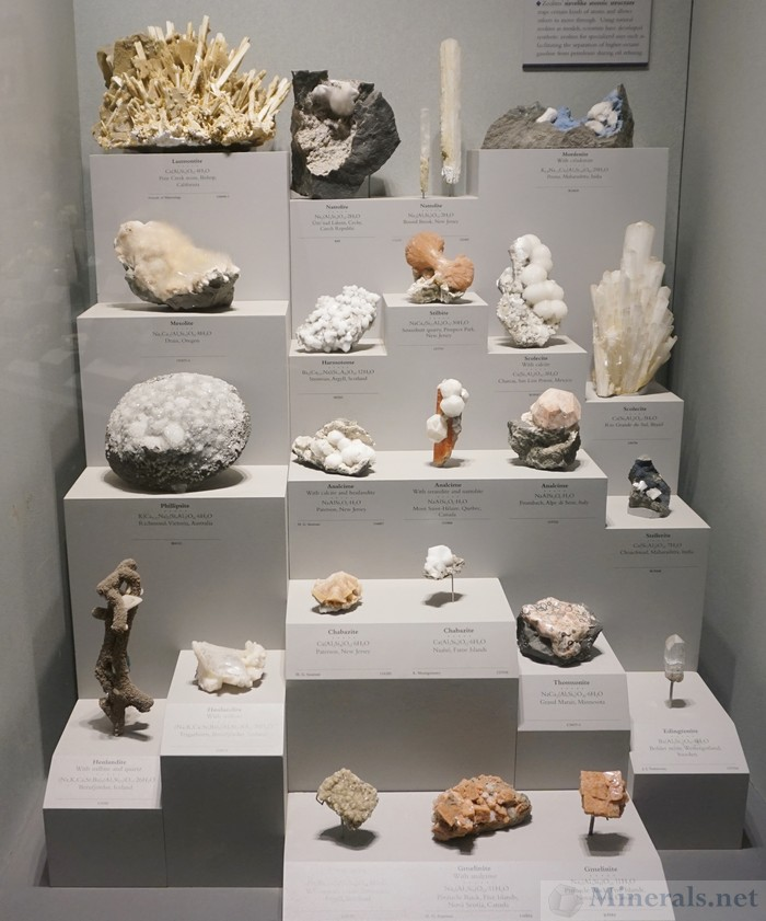 Zeolite Minerals Exhibit Case