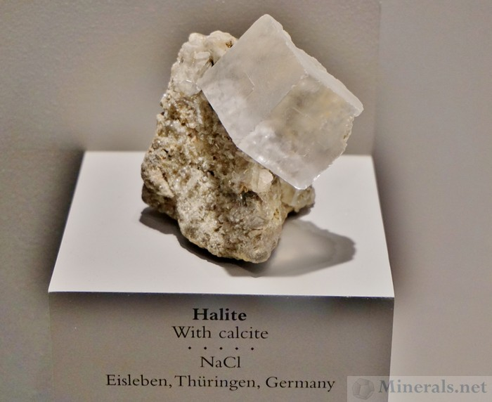 Cubic Halite with Calcite from Eisleben, Thuringen, Germany