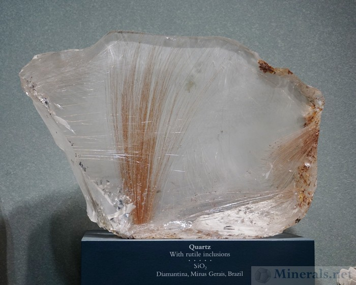 Quartz with Rutile Needle Inclusions from Diamantina, Minas Gerais, Brazil