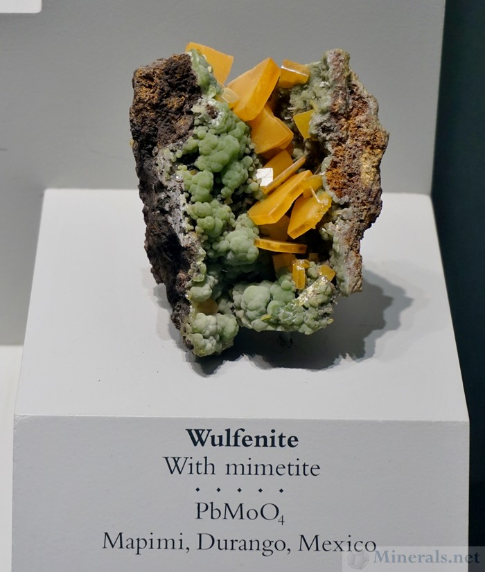Wulfenite with Mimetite from Mapimi, Durango, Mexico
