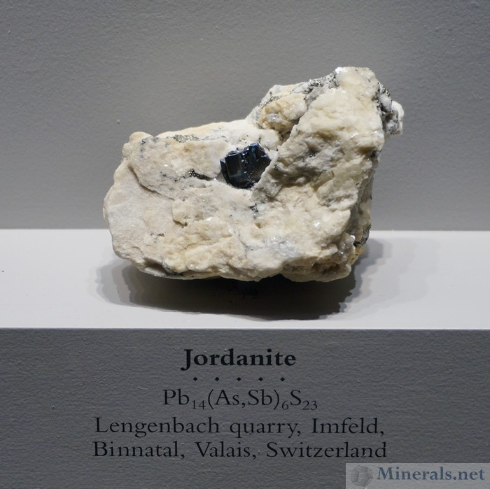 Jordanite, Lengenbach Quarry, Binntal, Switzerland
