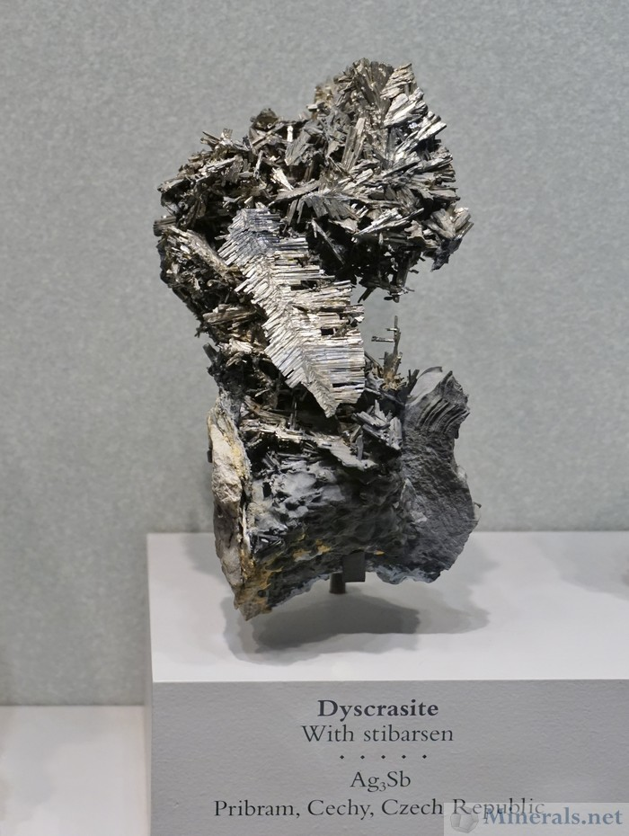 Dyscrasite with Stibarsen from Pribram, Czech Republic