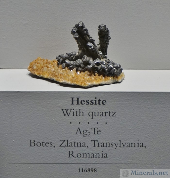Hessite with Quartz, Botes Transylvania, Romania