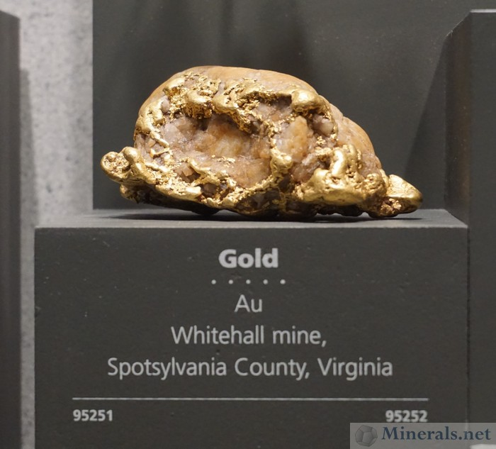 Gold Nugget, Whitehall Mine, Spotsylvania Co., Virginia