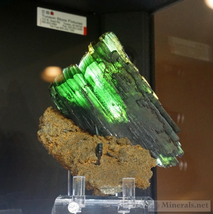 Transparent Vivianite Crystal with Strategic Backlighting from Bolivia