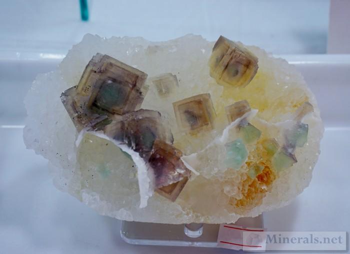 New Find of Multicolored Fluorite Cubes on Matrix from Zhejiang Prov., China