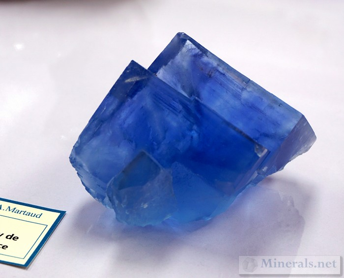 Blue Fluorite from Le Beix, Puy de Dome, France Alain Martaud Collection
