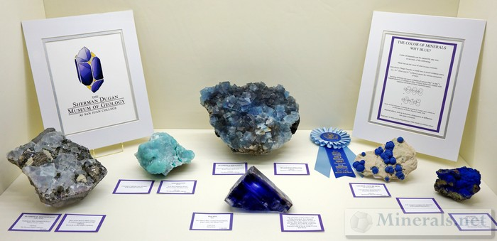 Worldwide Blue Minerals Sherman Dugan Museum of Geology at San Juan College