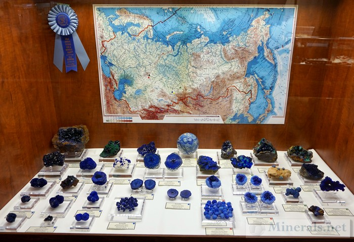 Azurite from Russia Fersman Mineralogical Museum