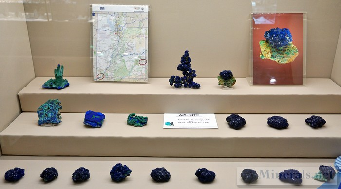 Azurite from the Apex Mine and La Sal Mine in Utah Martin Zinn Collection