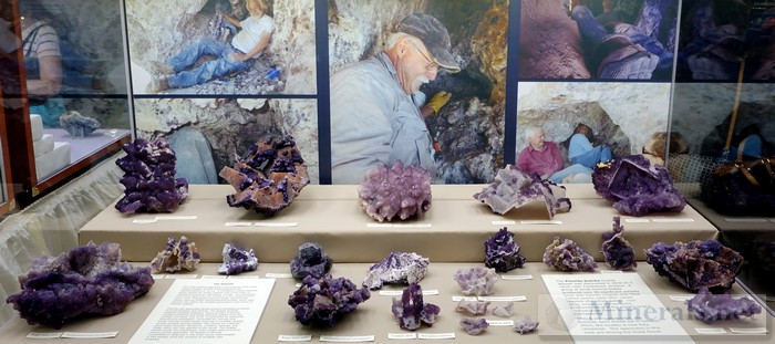 Purple Fluorite from the New Discovery at Tombstone Arizona