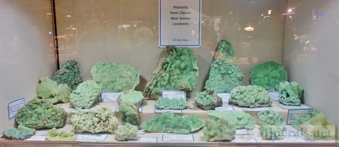 NY/NJ Edison Mineral Show Prehnite from Classic NJ Localities Stanley Parker