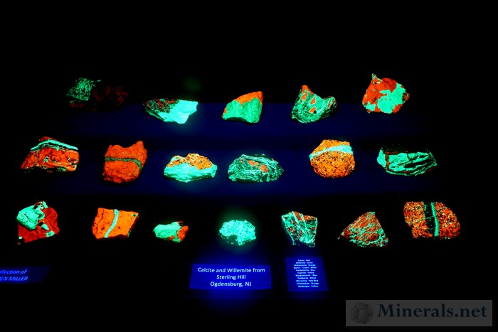 Fluorescent Calcite and Willemite Warren Miller Collection
