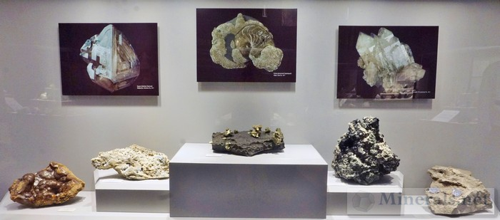 Large Cabinet Display of New York Minerals 2