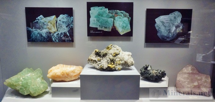 Large Cabinet Display of New York Minerals 3
