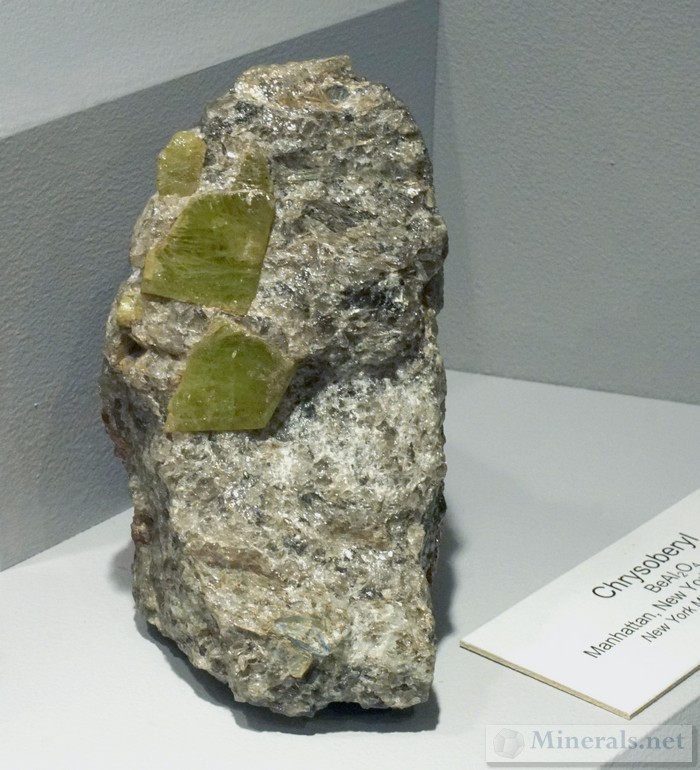 Chrysoberyl Crystals in Quartz from Manhattan