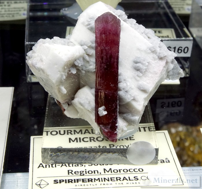 Elbaite Tourmaline with Microcline from Ouarzazate Province, Anti Atlas, Morocco