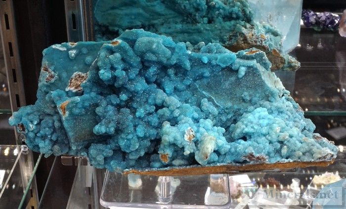 Large Blue Hemimorphite from the Wenshan Mine, Yunnan Province, China