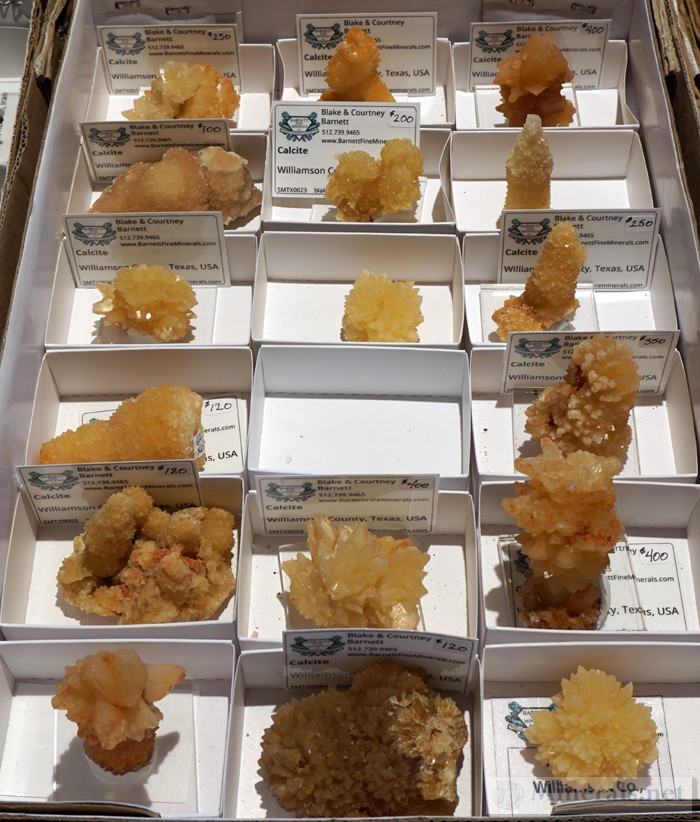 New Find of Yellow Calcite from Williamson Co, TX