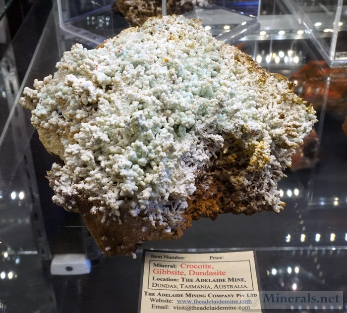 New Finds of Crocoite, Gibbsite, & Dundasite from the Adelaide Mine, Tasmania, Australia