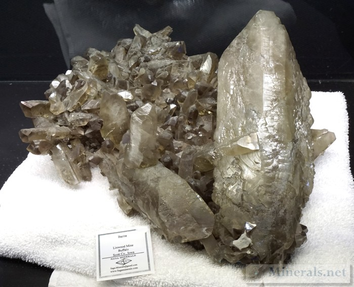 An Enormous Barite Crystal from the Linwood Mine, Buffalo, Iowa