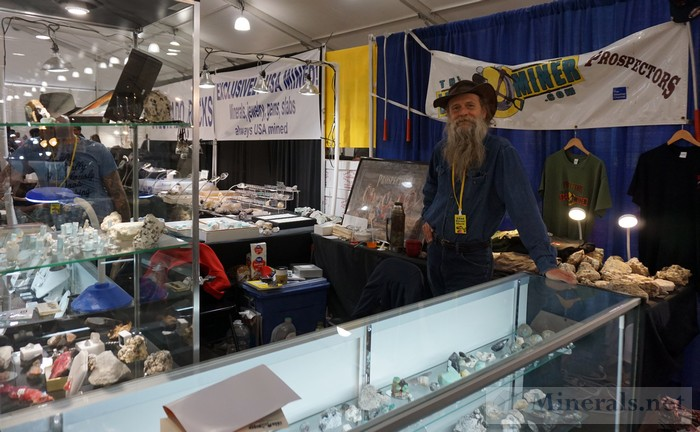 Dwayne Hall of the Prospectors in Front of his Booth at the Show