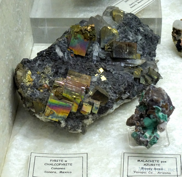 >Iridescent Pyrite from Cananea, Sonora, Mexico
