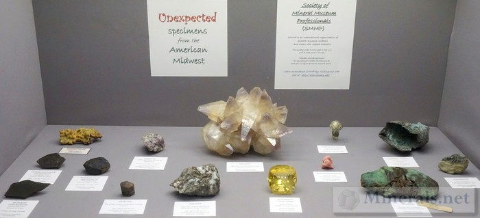 Unexpected Specimens from the American Midwest Society of Mineral Museum Professionals SMMP
