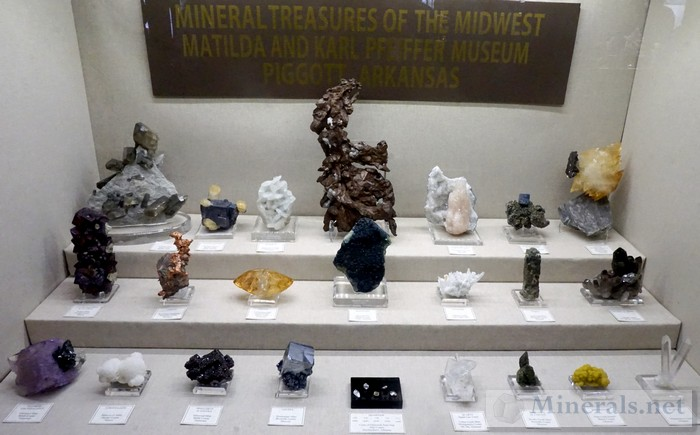 Mineral Treasures of the Midwest Matilda and Karl Pfeiffer Museum