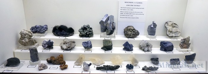 Minerals of the Illinois and Wisconsin Lead Zinc District
