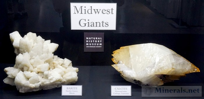 Midwest Giants Barite Calcite Natural History Museum of Los Angeles County